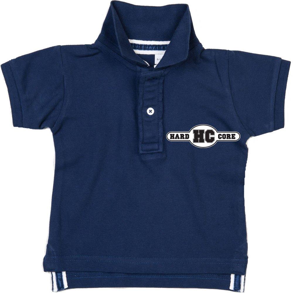 HARDCORE polo baby mUSIC bleu marine