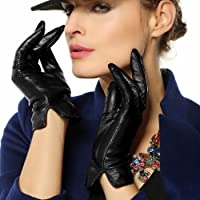 WARMEN Women's Touchscreen Texting Genuine Nappa Leather Glove Winter Warm Simple Plain Cashmere & Wool Blend Lined…