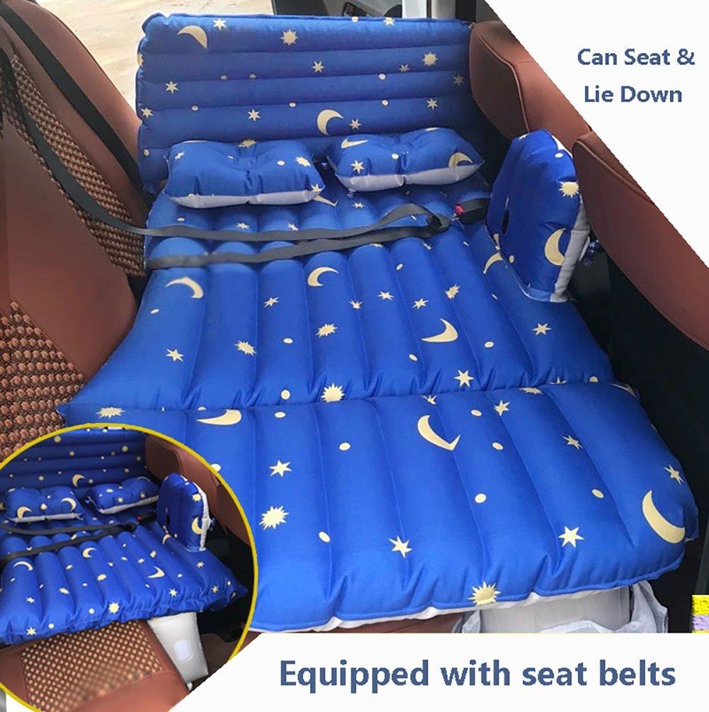 SUVカーインフレータブルマットレス旅行エアベッドバックシートキャンプリアシートマットクッションカーショックベッドブルー138 * 80 * 37センチメートル B07CN2DN2F  Style 1