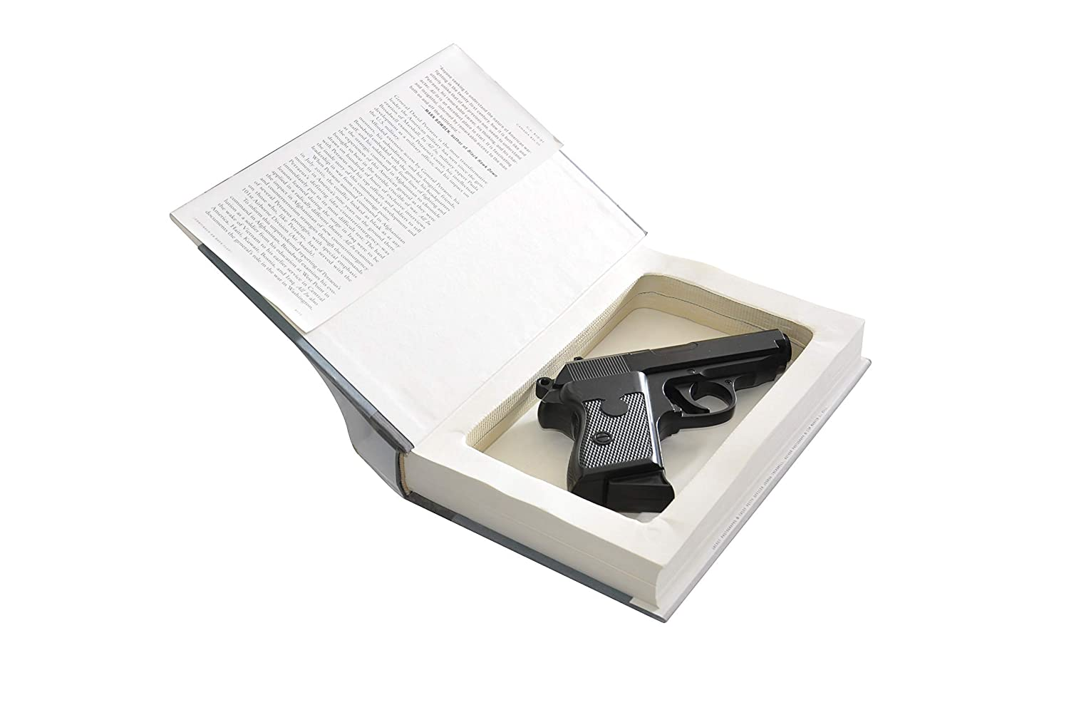 Concealment Book Safe for Subcompact Handguns - Glock Kimber Ruger S&W - Concealed Gun Storage - Home Car Defense