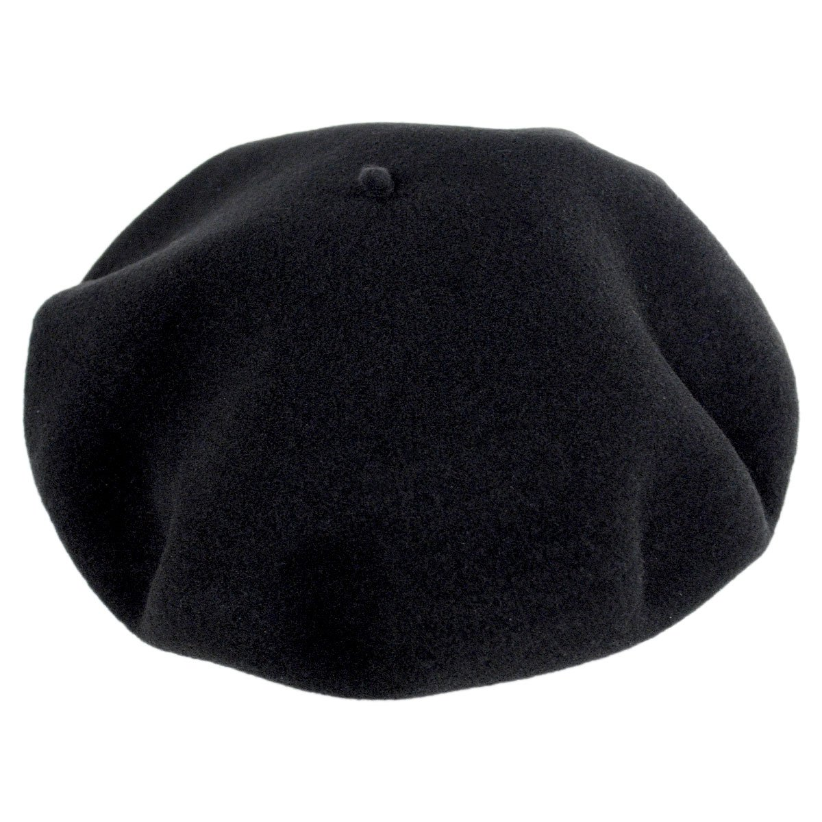 Hoquy Wool Basque Beret and Luxury Box - Black (57 cm) by Laulhere