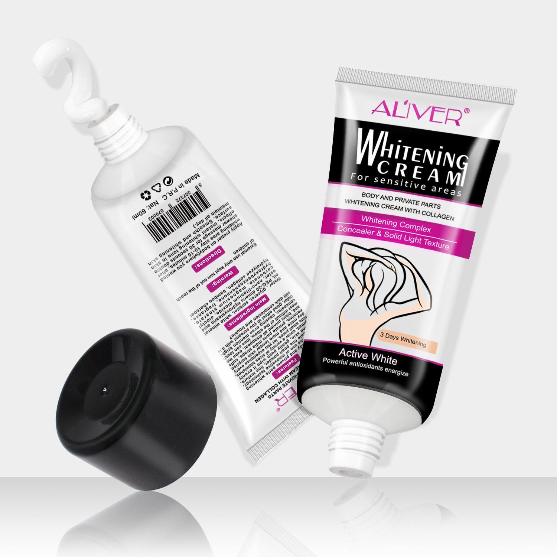Natural Underarm Whitening Cream, Armpit Lightening & Brightening Deodorant Cream, Body Creams, Underarm Repair Whitening Cream Between Legs Knees Sensitive Areas 60g by ALIVER (Image #8)