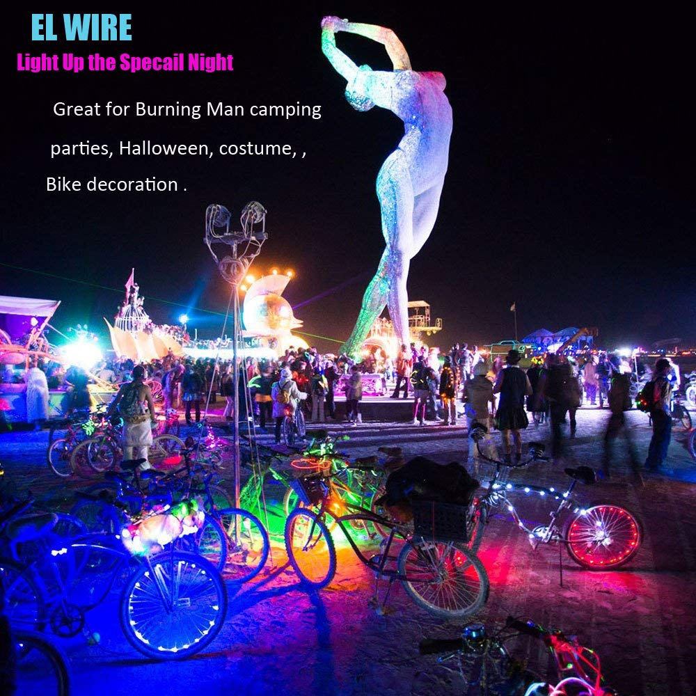 Amazon.com: Cefrank El Wire, Neon Light + Battery Pack Glowing ...