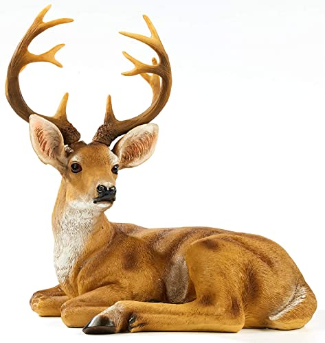 TAOBIAN Resin Buck Male Deer Statue-Animal Figurines Garden Sculpture Accessorie