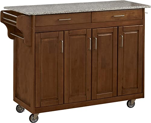 Create-a-Cart Cottage Oak 4 Door Cabinet Kitchen Cart