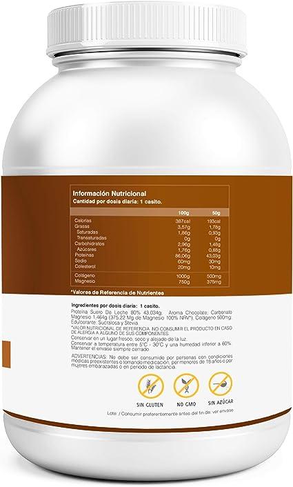 Whey Protein | Proteina whey pura con colágeno + magnesio ...