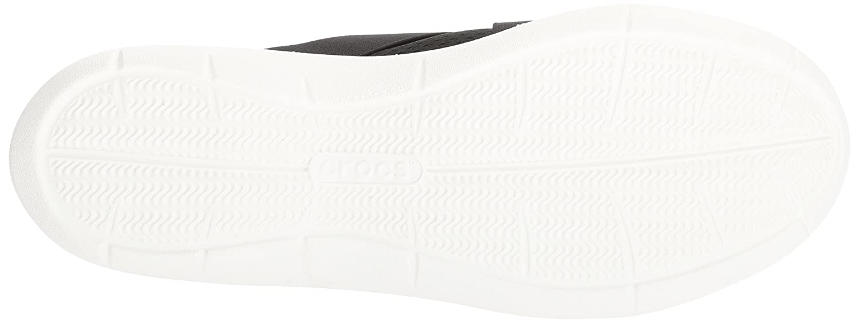 Crocs Women's Swiftwater Cross-Strap Slip On B01N03EWO3 5 M US Black/White