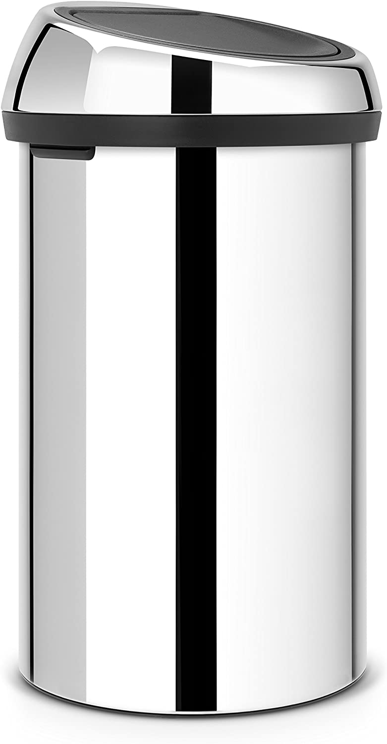 Brabantia 60 Litre Touch Bin - Brilliant Steel