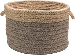 product image for Colonial Mills Chunky NAT Wool Dipped Basket, 14 by 10-Inch, Dark Gray/Beige