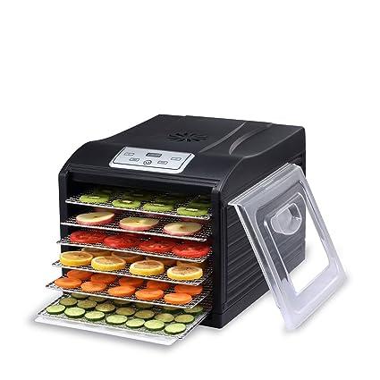 BioChef Arizona Sol 6 - Deshidratador de alimentos, 500W, Deshidratadora con 6 bandejas extraíbles e inoxidables, Termostato ajustable, Pantalla ...