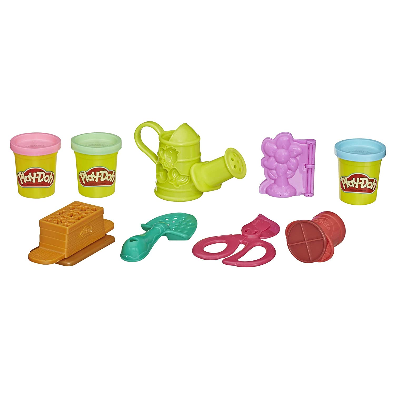 Play-Doh Growin Garden Toy Gardening Tools Set for Kids with 3 Non-Toxic Colors Hasbro E3564AS00