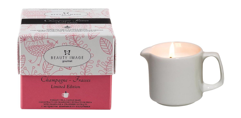 Beauty Image Strawberry Champagne Hot Oil Body Massage Candle CEMSA 100181