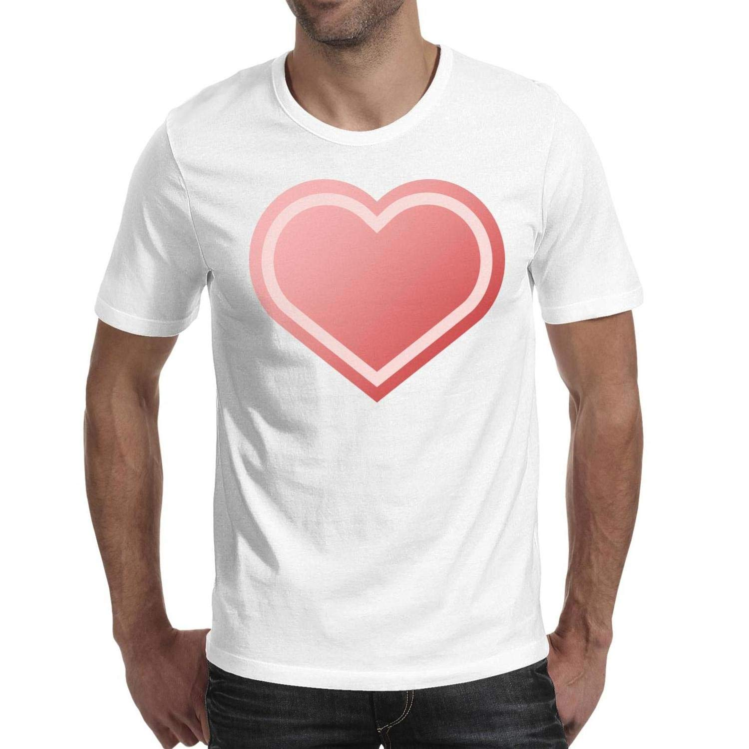 Knit Heart Logo Mens Clothing Shirt T-Shirt Cotton,Cable,Slim-Fit,Crew Neck,Solid,Graphic,Novelty} Design