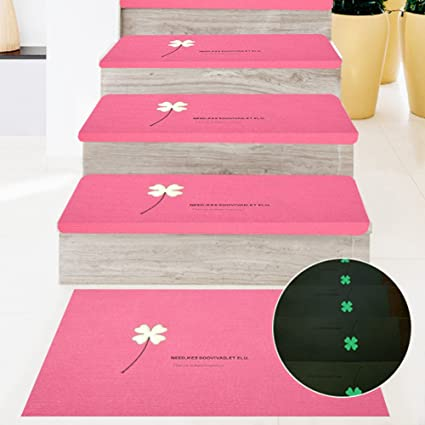 Superior 5Pcs Stair Tread Indoor Stair Treads Mats Luminous Non Slip Self  Adhesive  Carpet Rubber Backing