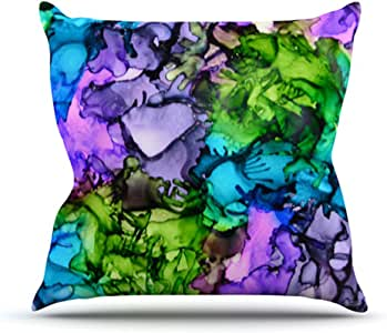 """Kess InHouse Claire Day""""Cellar Door"""" Outdoor Throw Pillow, 18 by 18-Inch"""