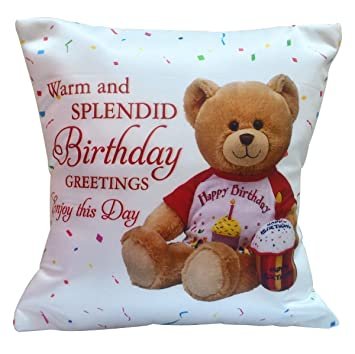 Buy Saugat Traders Microfiber Boys And Girls Cushion For Birthday Gift White Online At Low Prices In India