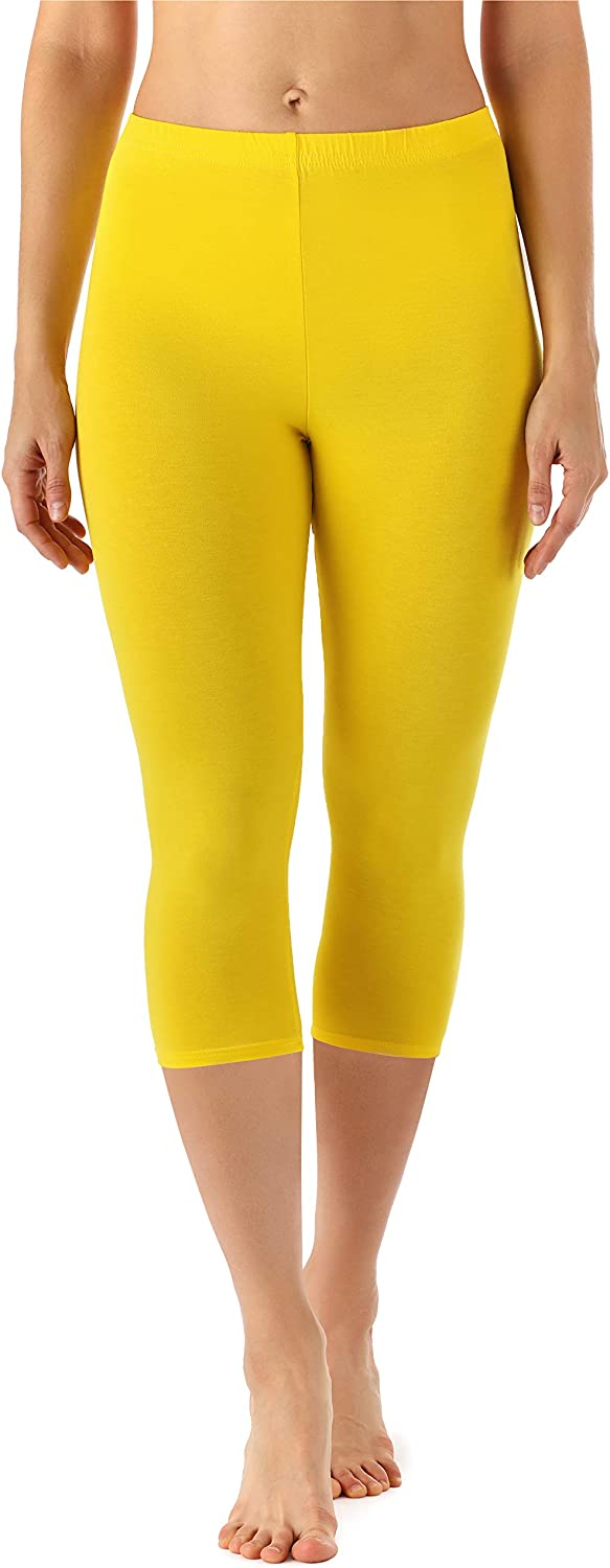 Merry Style Leggings 3//4 Pantaloni Capri Donna MS10-144