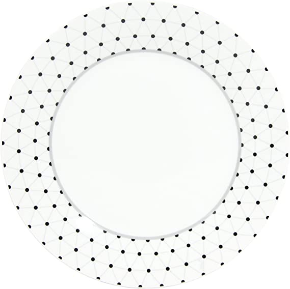 Novastyl-8018008-Lot de 6 Assiettes Plate Orion en Porcelaine Diametre 27 Cm