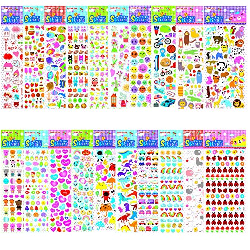 Puffy Flower (Kombrex 1400+ Cute 3D puffy stickers, for Kids, Teachers, Adult,Including Cars,Animals,Fish,Cake,Flower and Plants)
