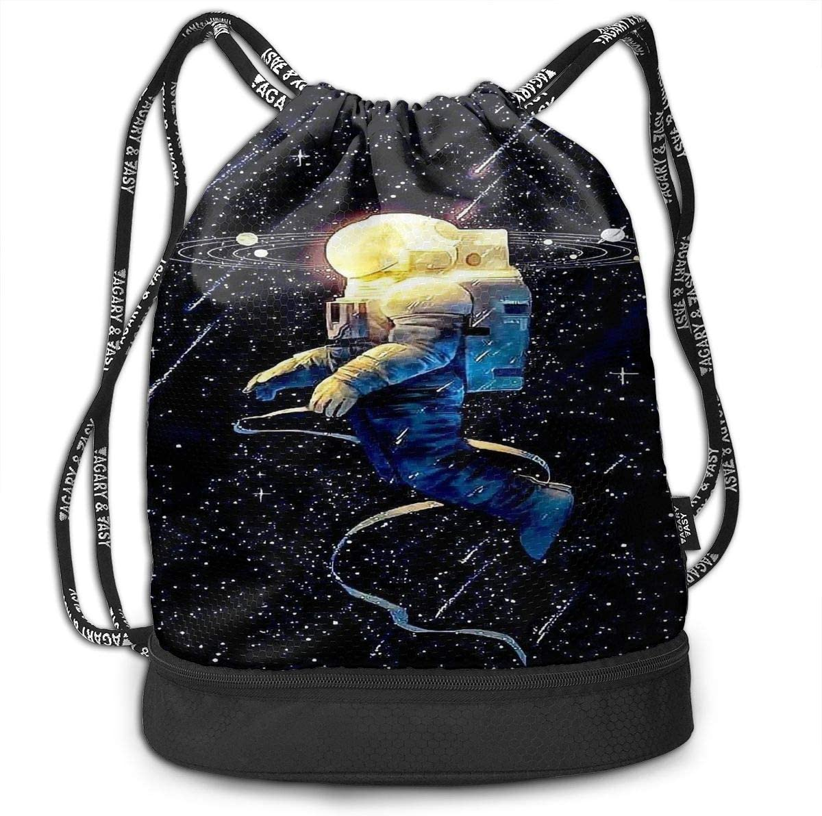 Drawstring Backpack Astronaut Space Planet Galaxy Bags