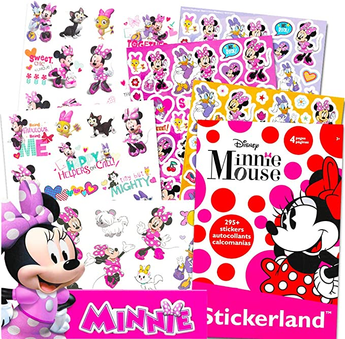 Minnie Mouse Stickers & Tattoos Party Favor Pack (200 Stickers & 50 Temporary Tattoos) by Disney: Amazon.es: Juguetes y juegos