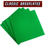 "Classic Building Base plates--- 4 Classic 10"" x 10"" Green BasePlates,Compatible with all Major Brands (Pack of 4, Green)"