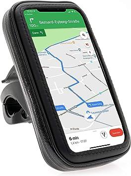 Xaiox - Soporte universal de bicicleta para smartphone de hasta 16,7 x 8,8 cm, color negro: Amazon.es: Electrónica