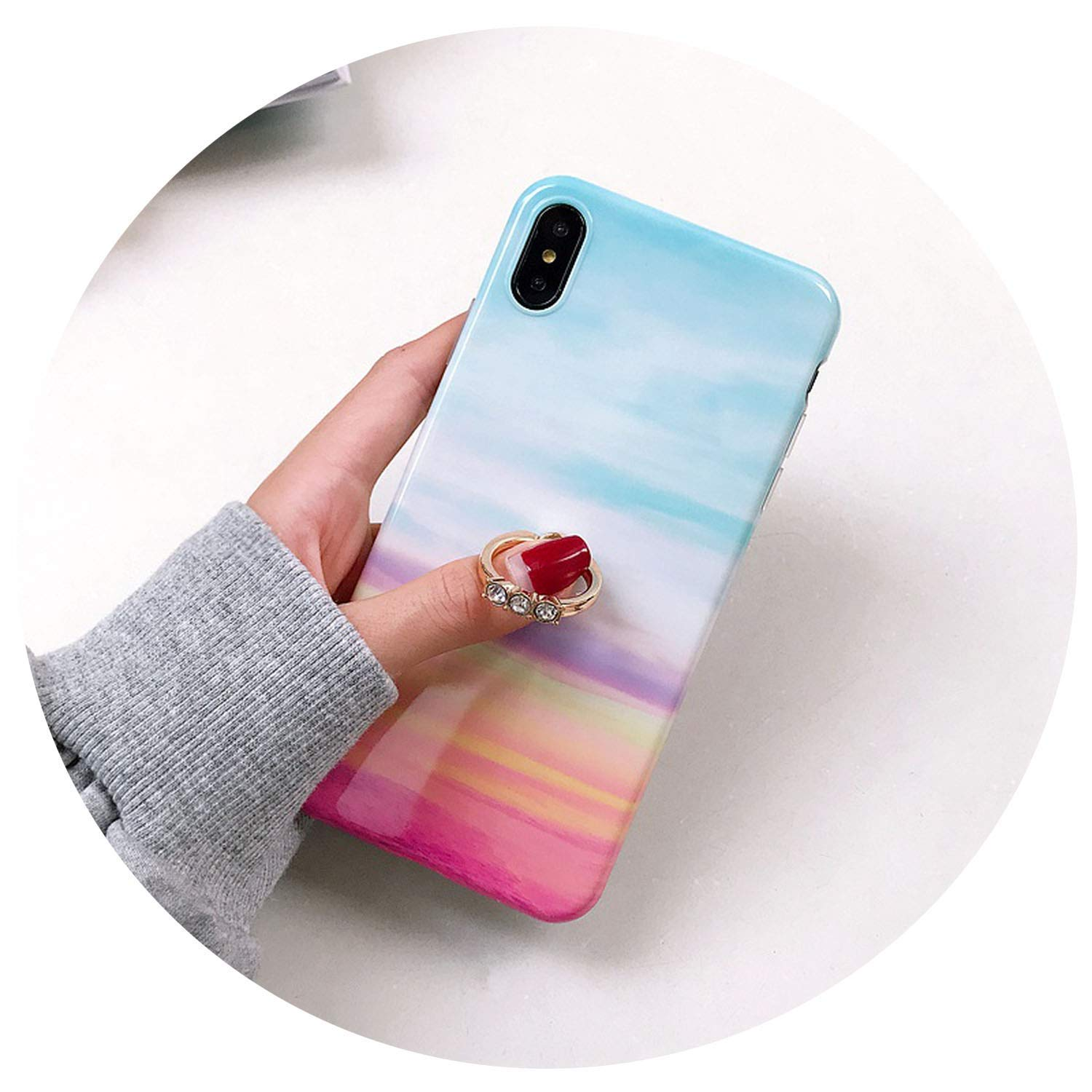 Amazon.com: Funda de silicona de color mármol para iPhone Xs ...