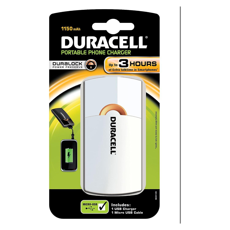 Duracell LADER3UURWIT - Cargador USB portátil, color blanco ...