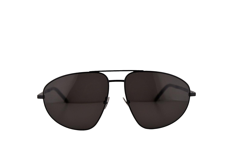 cc69a22ec75 Amazon.com  Saint Laurent Sunglasses SL 211 Black w Grey Lens 60mm 002  SL211  Clothing