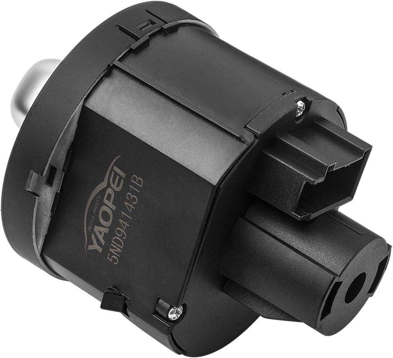 YAOPEI Interruptor bot/ón de funci/ón faros control de luz antiniebla compatible con 5ND941431B