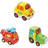 VTech Baby 80-205864 - Tut Tut Flitzer - Fahrzeug - Hubschrauber, Auto, Traktor - 3er Set