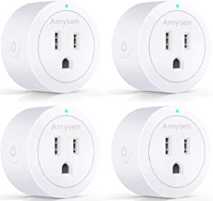 Smart Plug Amysen - A Certified Compatible with Alexa, Echo & Google Home – Only WiFi 2.4G