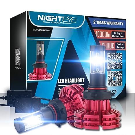 880 LED Kit de conversión de bombillas de faros delanteros para coche, LED 10000LM blanco