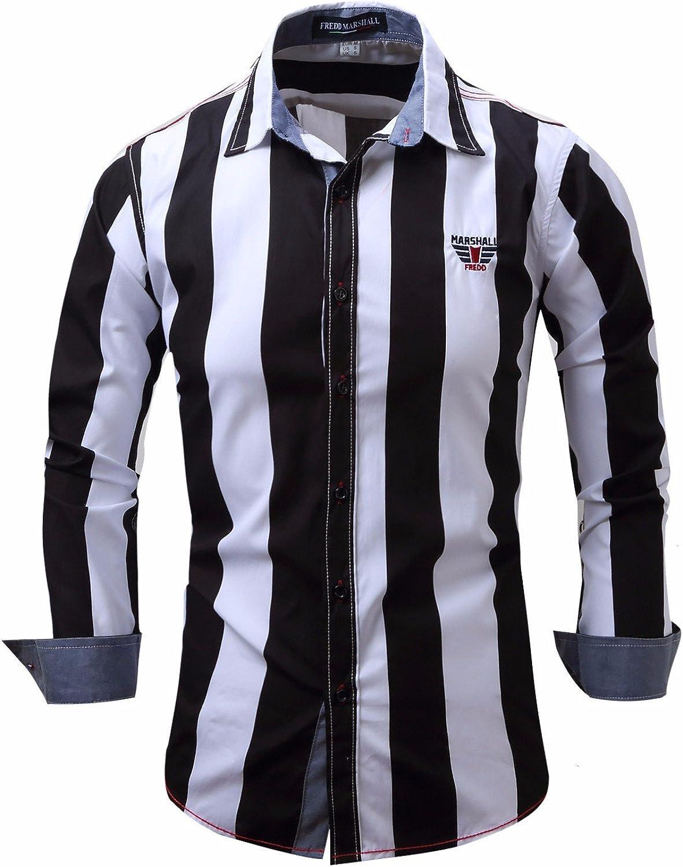 CXBB Camisas de Hombres Ocio Camisa de Manga Larga de Algodón ...