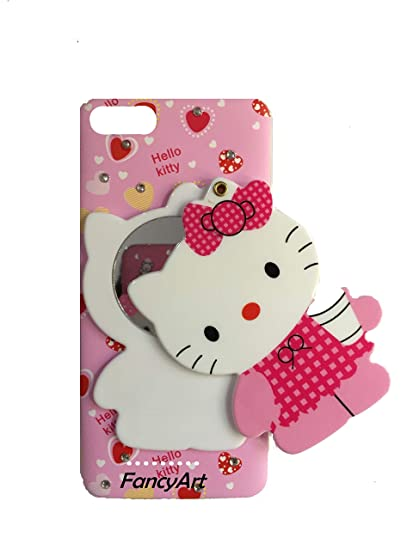 size 40 0b64d bf5f1 FancyArt Mirror Hello Kitty Back Case Cover for Xiaomi: Amazon.in ...