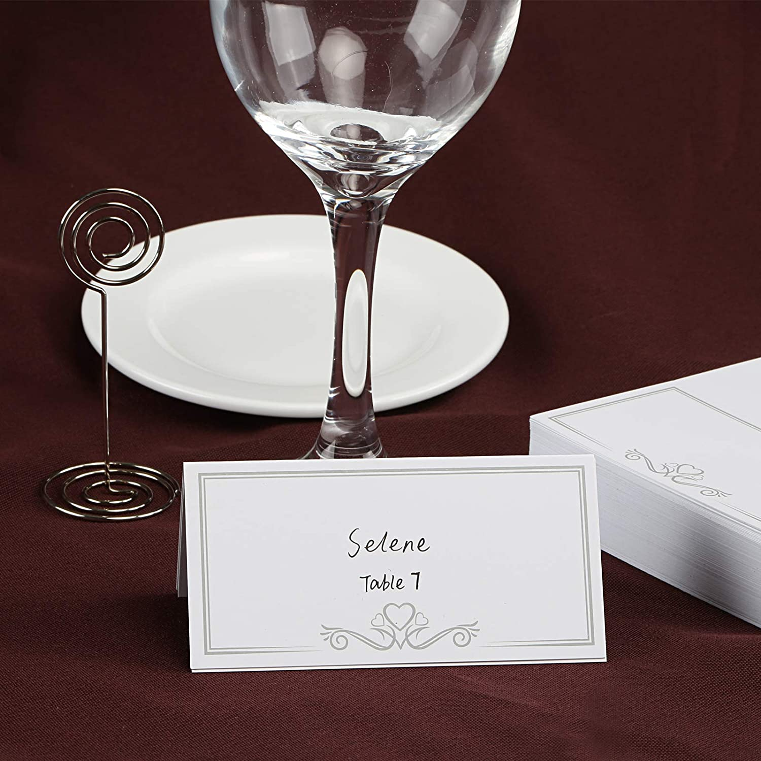 2 x 3.9 Inches Kesoto 100 PCS Table Name Place Cards Small Tent Cards Events Banquets Perfect for Weddings