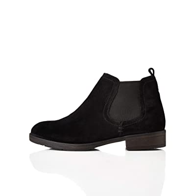 Amazon Brand - find. Women's Casual Suede Chelsea Boots, Black), 5 UK: Shoes