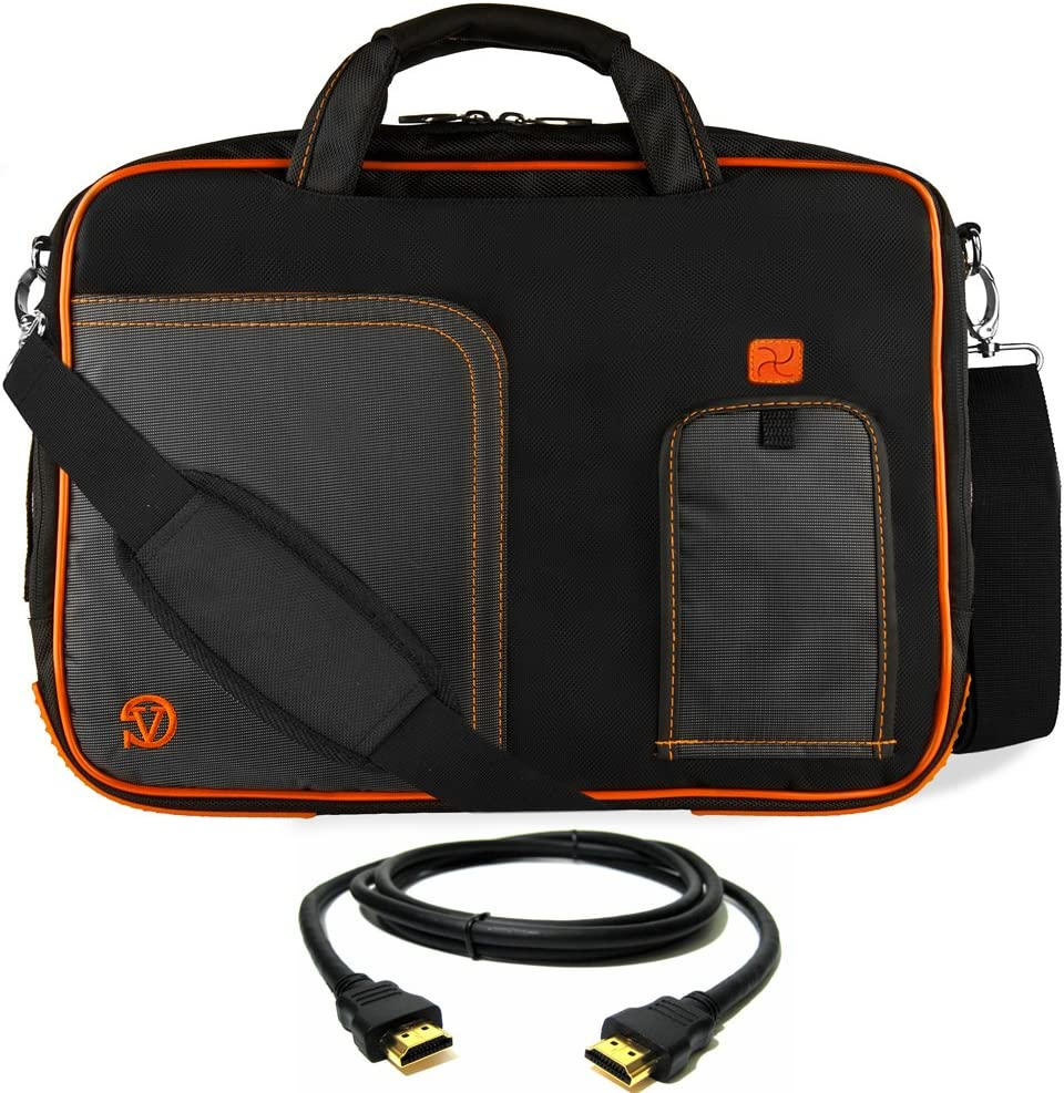 "Orange Laptop Bag, HDMI Cable for Dell Latitude, Inspiron, Precision, XPS, Alienware, Vostro G3 G5 G7 14"" to 15.6 inch"