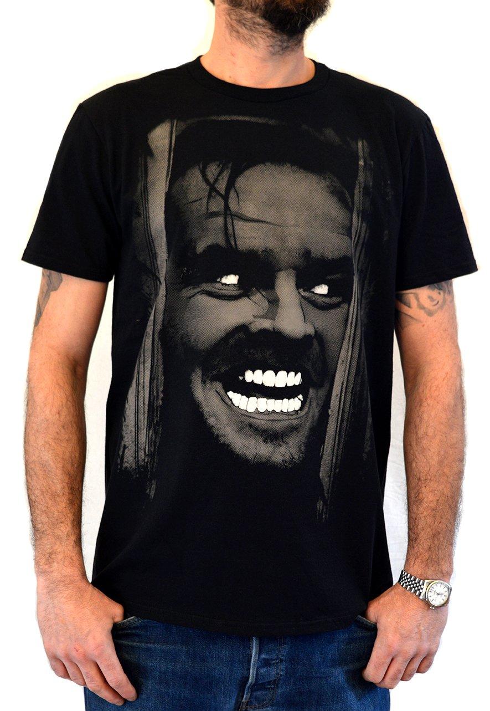 Faces Shining Jack Nicholson Organic T Shirt Hand Printed In Italy 1922