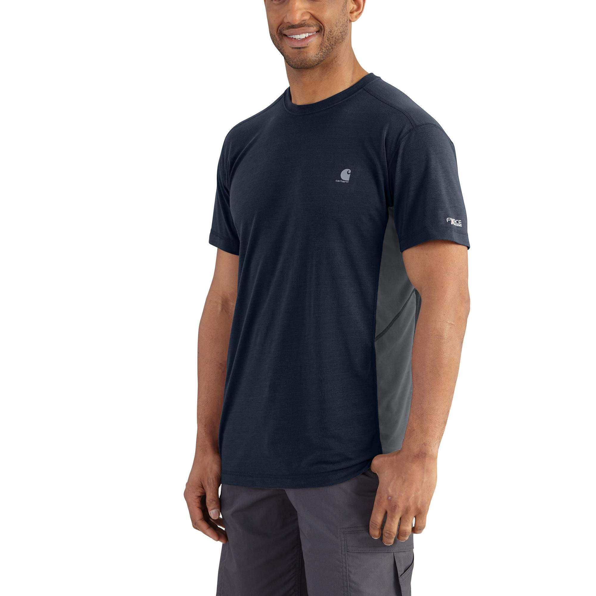 Carhartt Men's Force Extremes Short Sleeve T Shirt, Navy/Bluestone, X-Large