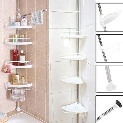 Bathroom Bath Shelf Storage Rack Corner Holder Shower Shampoo Basket Organizer