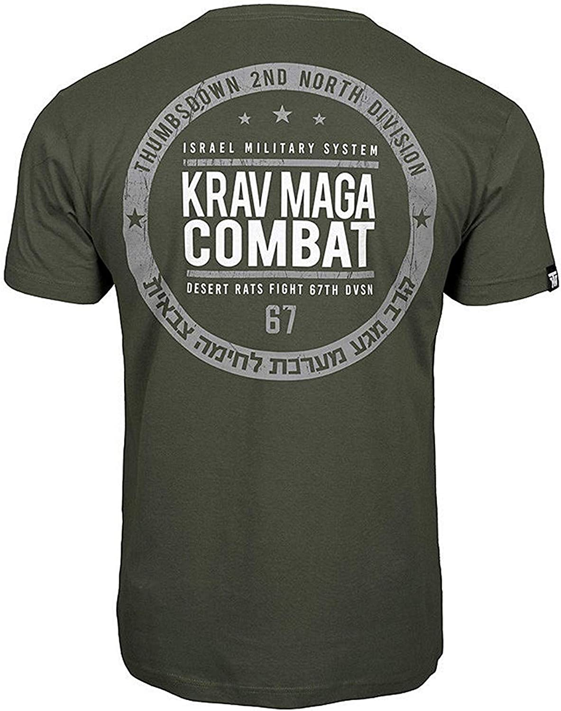 Thumbsdown Pulgares Down Krav Maga Combat Camiseta Israel Militar Sistema MMA. Gimnasio Entrenamiento. Marcial Artes Informal