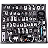 Mainstayae 62 Pcs Sewing Machine Presser Feet Set, Professional Sewing Crafting Presser Foot Feet for Janome Brother…