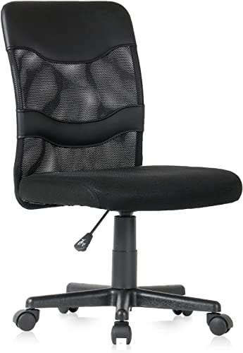 YAMASORO Office Mesh Task Chair Mid Back Swivel Computer Desk Chair