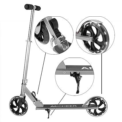 lonlier patinete grande rueda adulto plegable ajustable ...