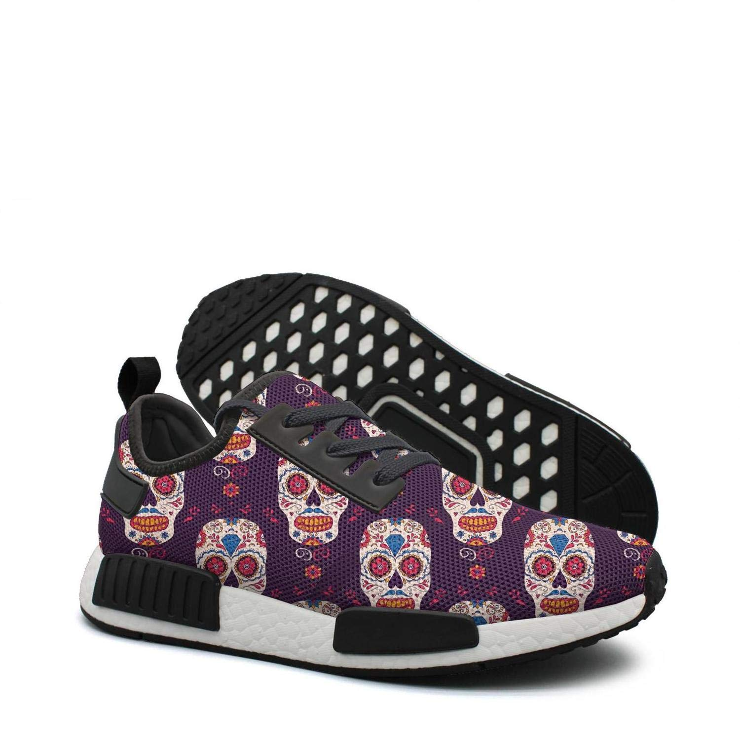 ktyyuwwww Womens Ladies Colorful Camping Sneaker Mexican Day of The Dead Skull Climbing Running Shoes