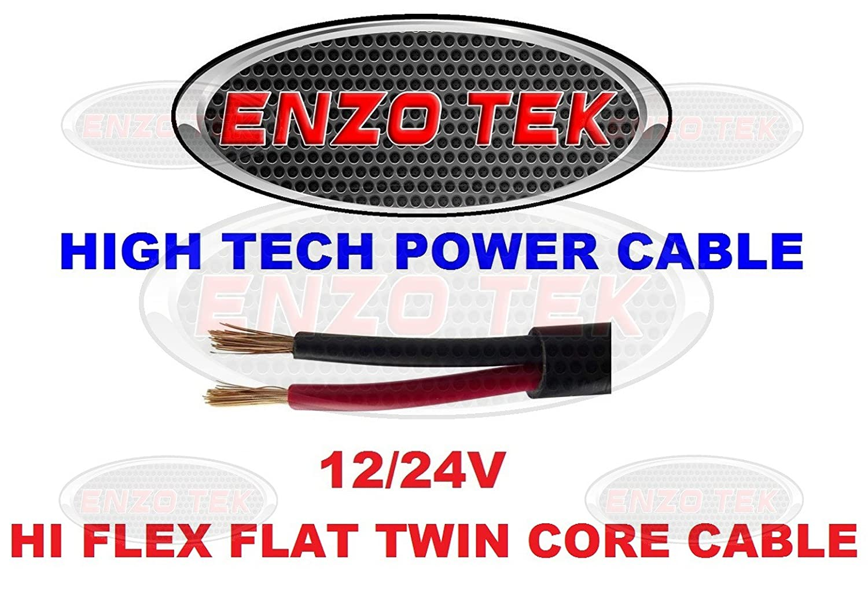 Hi Flex Automotive Kit Car Grade 2 Core Cable 2 x 2.0 MM 17.5 AMP Flat Twin