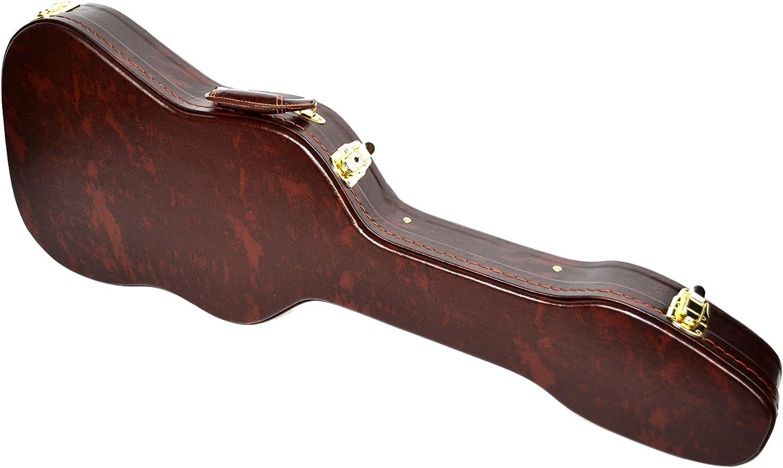 Funda rígida para guitarra eléctrica, color marrón: Amazon.es: Electrónica