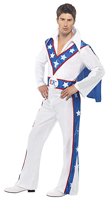 70s Costumes: Disco Costumes, Hippie Outfits Evel Knievel Costume Man Fancy Dress $38.16 AT vintagedancer.com